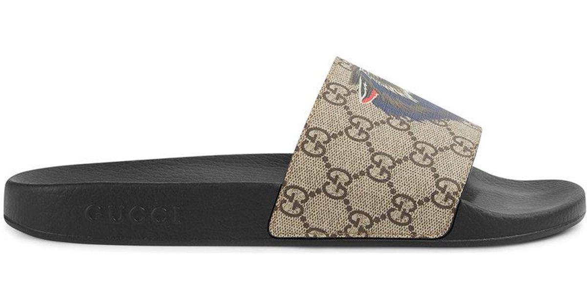 028690d9f1ad Lyst - Claquettes GG Suprême Gucci pour homme