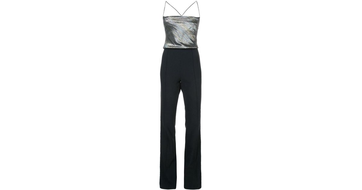 369a96f0c8e Lyst - Haney Contrast Jumpsuit in Black