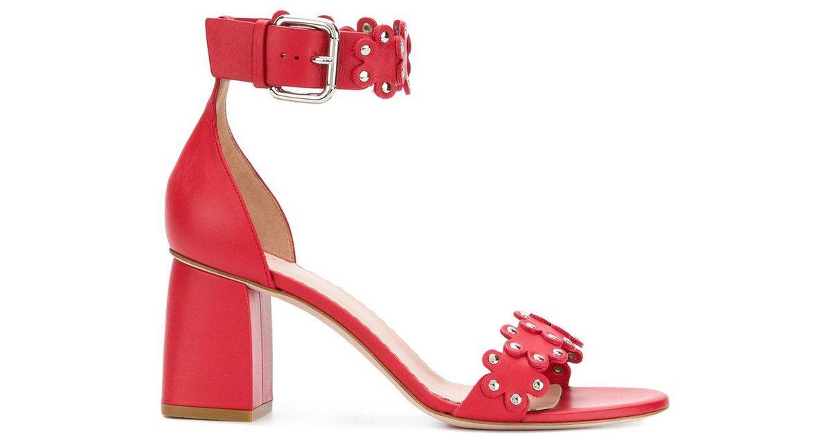 Sandales Fleur Rouge Bride À La Cheville Valentino vmfjLjAyX
