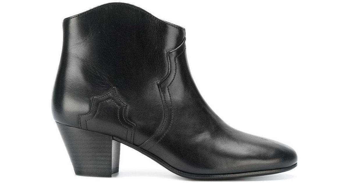 lyst isabel marant dicker boots in black. Black Bedroom Furniture Sets. Home Design Ideas