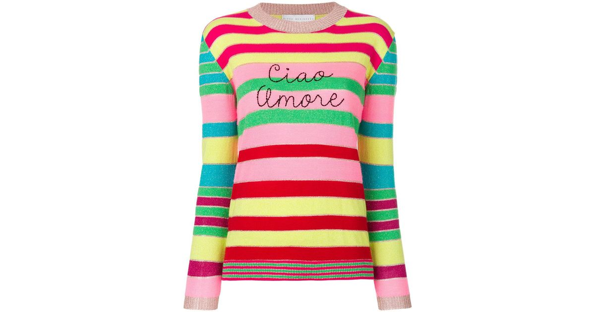 Lyst Giada Benincasa Ciao Amore Striped Sweater