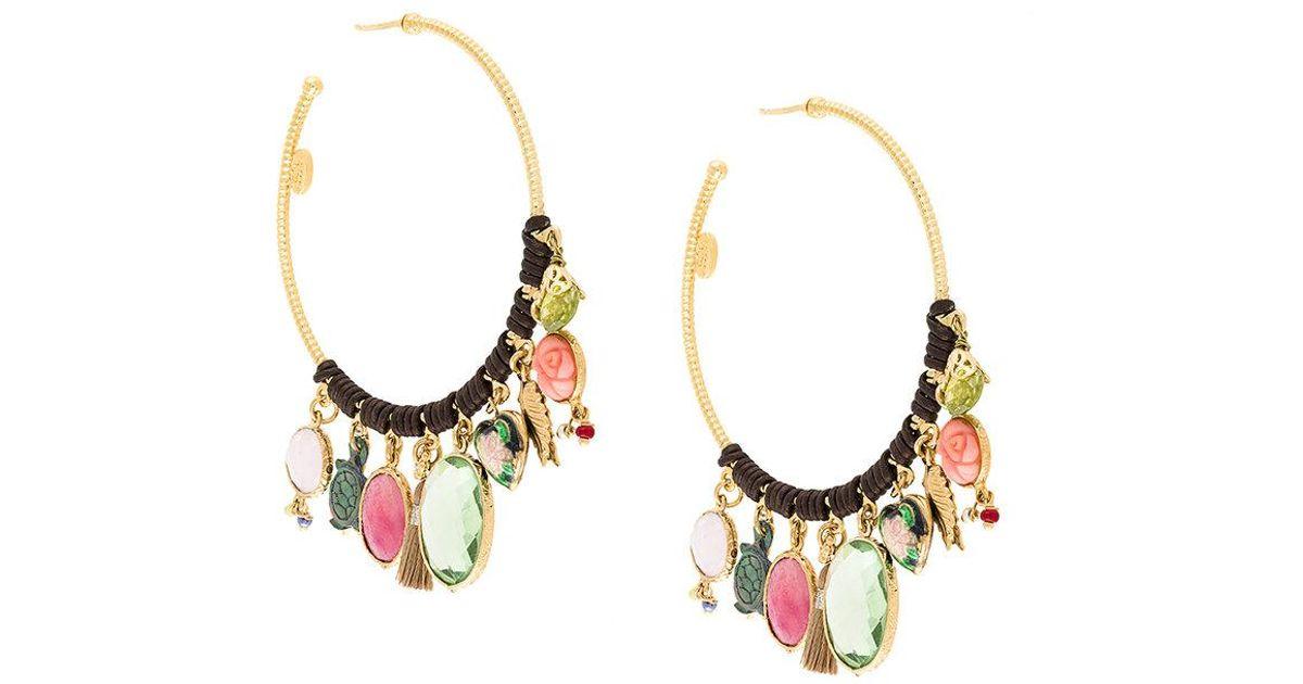Gas Bijoux mixed-stone drop earrings - Metallic pmausr