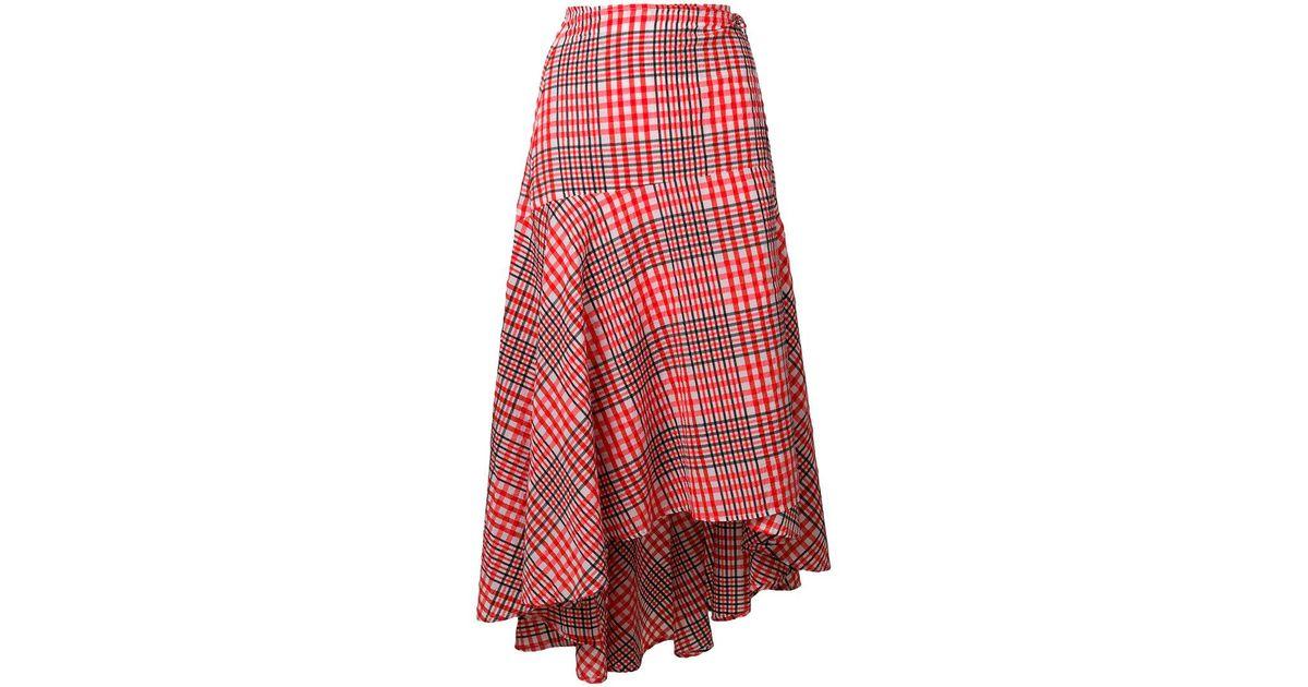 e4d1290f37 Ganni Women's Charron Skirt in Red - Lyst