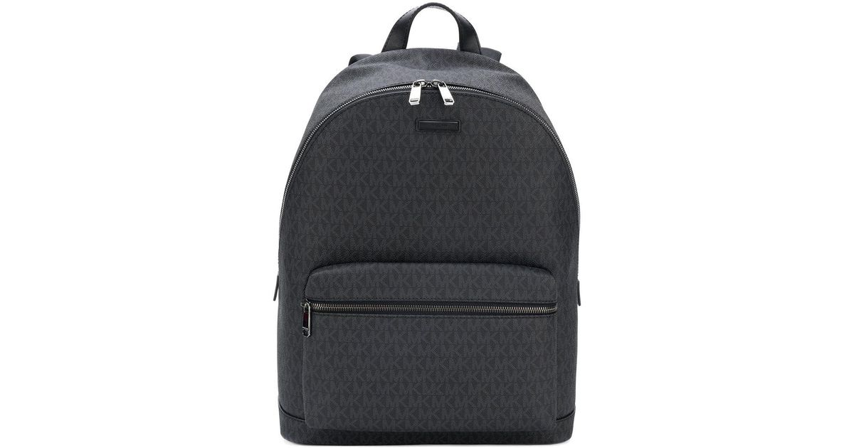 9ead323ed72c Michael Kors Streamlined Mk Logo Backpack in Black for Men - Lyst