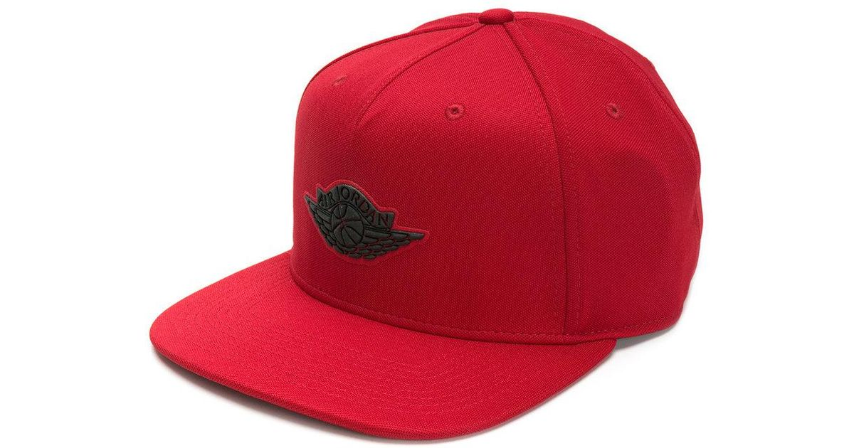 c2cd699632242 coupon code for lyst nike jordan wings adjustable cap in red for men 18dd2  cdd05