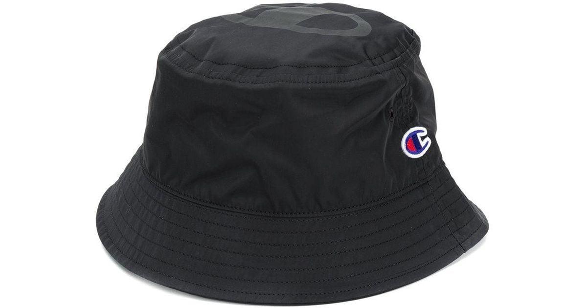 Lyst - Champion Logo Bucket Hat in Black for Men 2cc6e3dce57