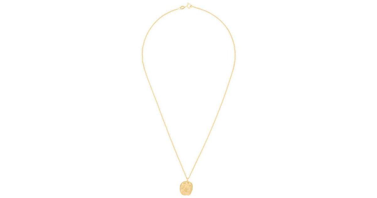 Neptune Face Pendant necklace - Metallic Lucy Folk WmfmQCScy