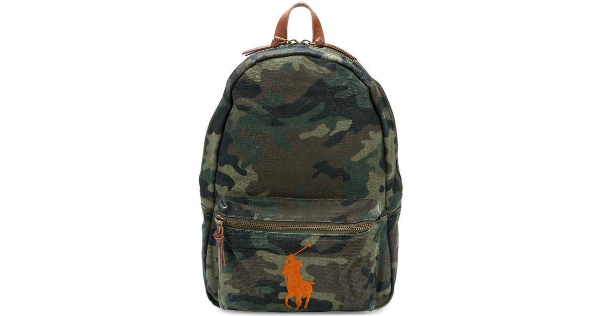 Lyst - Sac à dos imprimé camouflage à logo brodé Polo Ralph Lauren pour  homme en coloris Vert 905a84cb85ff
