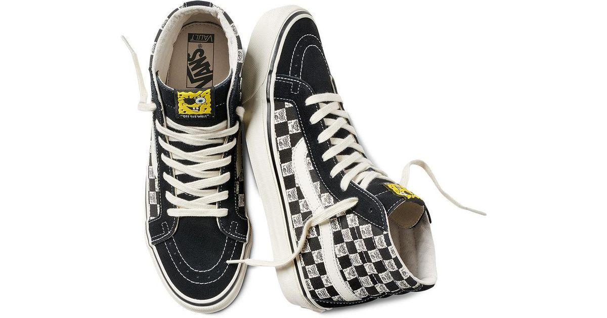 lyst vans x spongebob graphic high top sneakers in black for men