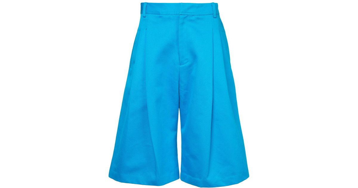 wide leg shorts - Blue Ex Infinitas