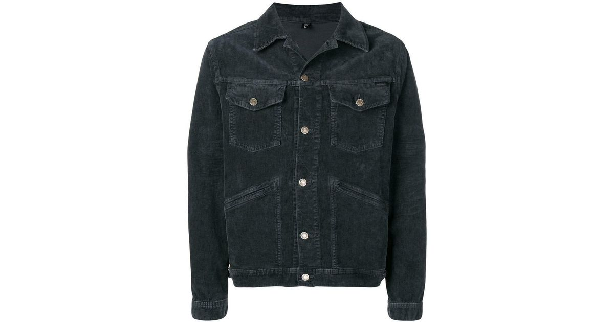 3eb77a48008 Lyst - Tom Ford Denim Fitted Jacket in Gray for Men
