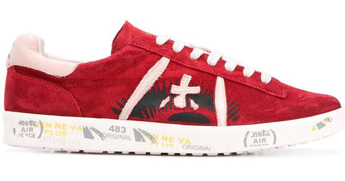 patterned low top sneakers - Red Premiata
