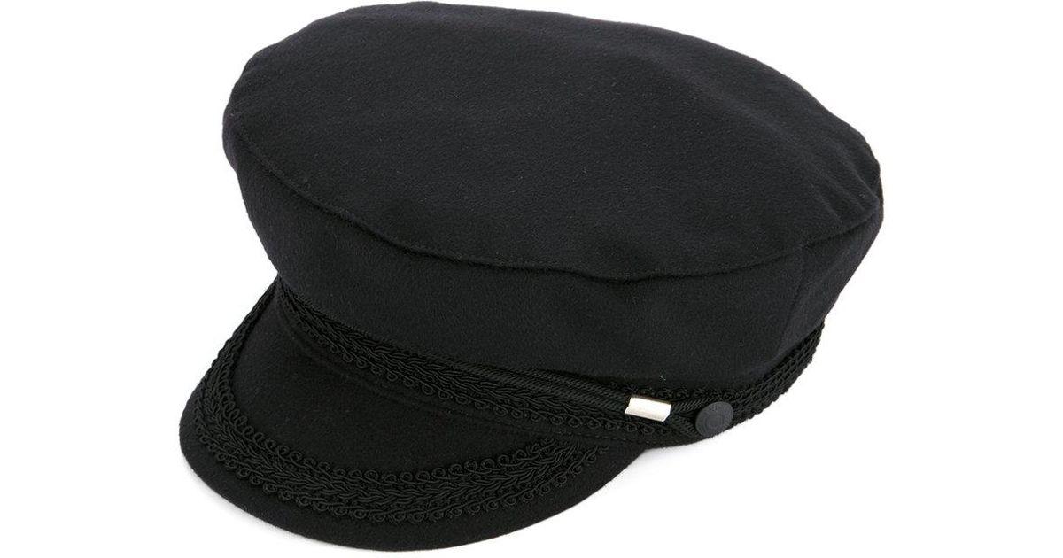 Lyst - Alexander McQueen Corded Detail Paperboy Hat in Black for Men beff477acc4