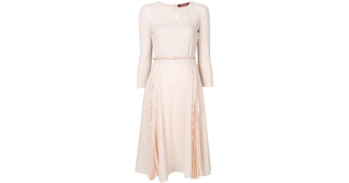 Max Mara Studio belted flared dress Clearance Browse Clearance Perfect Shop For Sale Online 4jyCKIj1