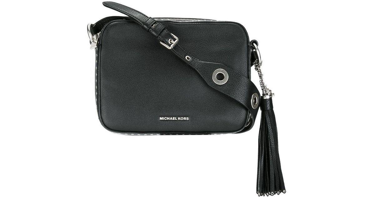 3b22e5f429b7a9 MICHAEL Michael Kors Large 'brooklyn' Camera Crossbody Bag in Black - Lyst