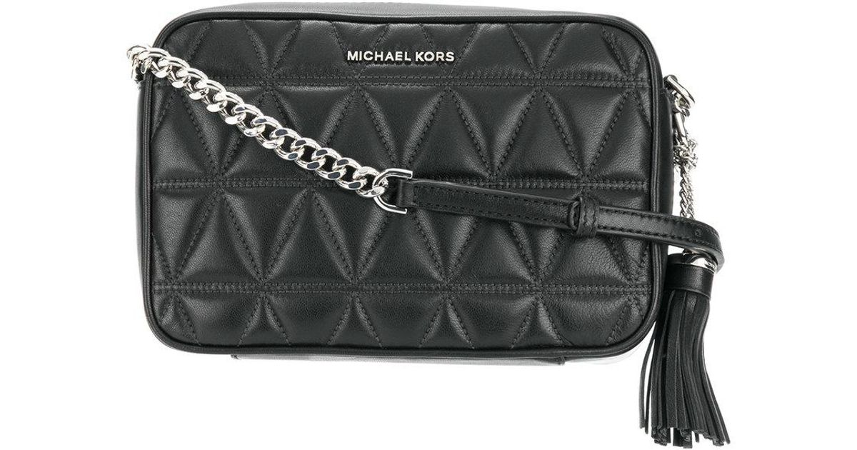 41b81feaa6ca08 MICHAEL Michael Kors Ginny Quilted Crossbody Bag in Black - Lyst