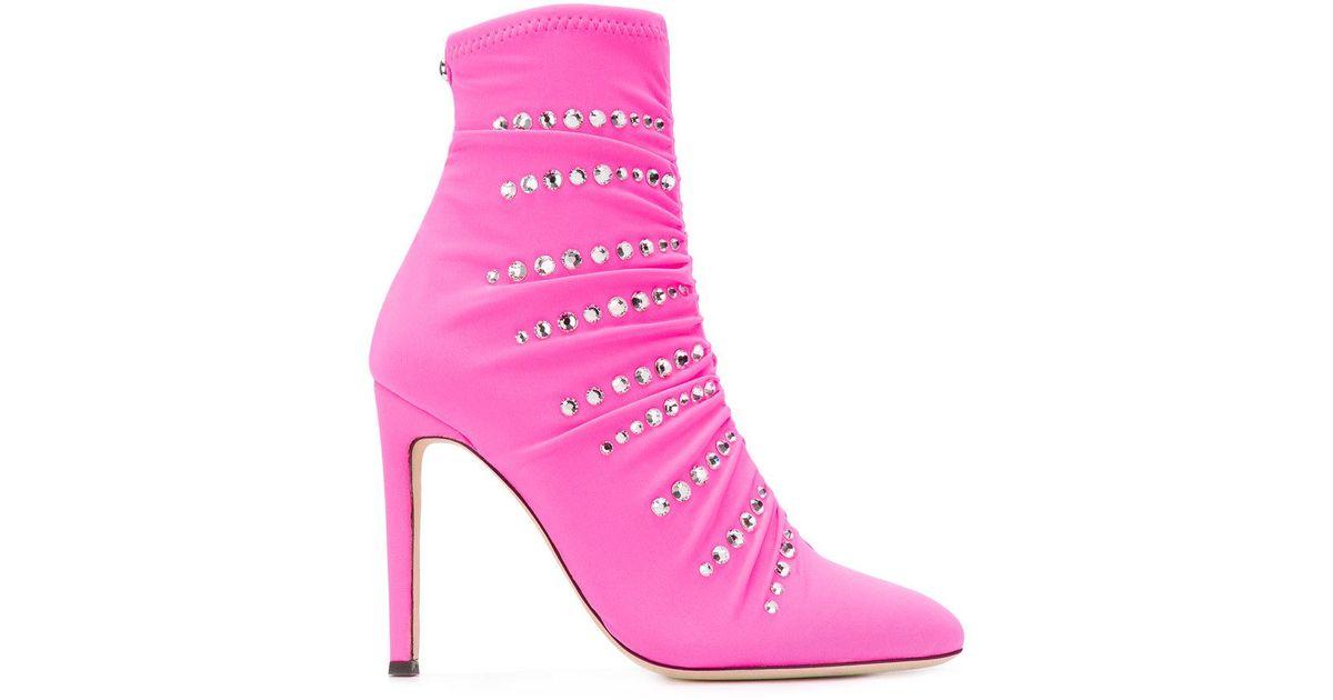 Celeste Booties - Pink & Purple Giuseppe Zanotti nY4ku