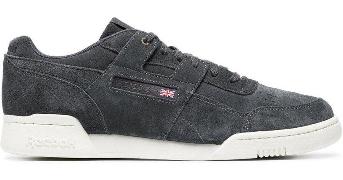 Lyst - Reebok Black Workout Plus Mcc Suede Sneakers in Black for Men c53afda7a