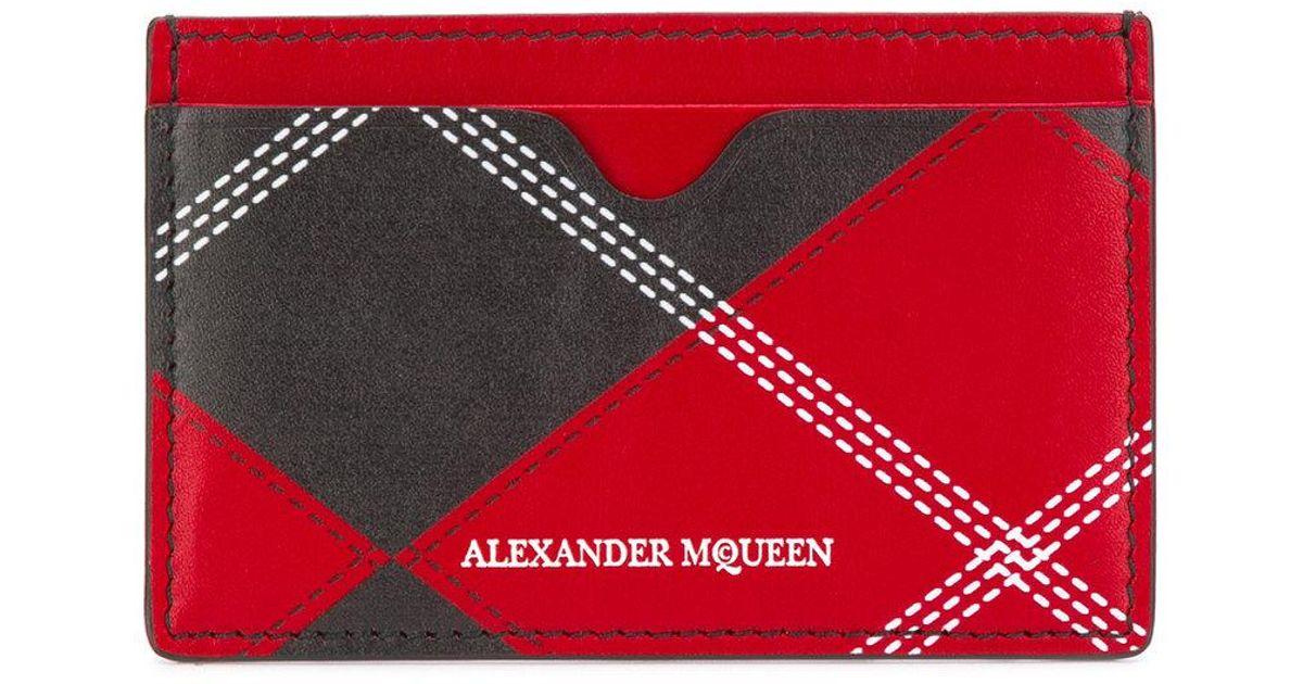 Lyst - Porte-cartes à imprimé tartan Alexander McQueen pour homme en  coloris Noir 26ceb89cb7a