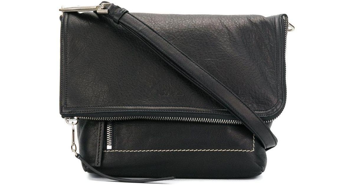 foldover messenger bag - Black Rick Owens vuHASmaV4H