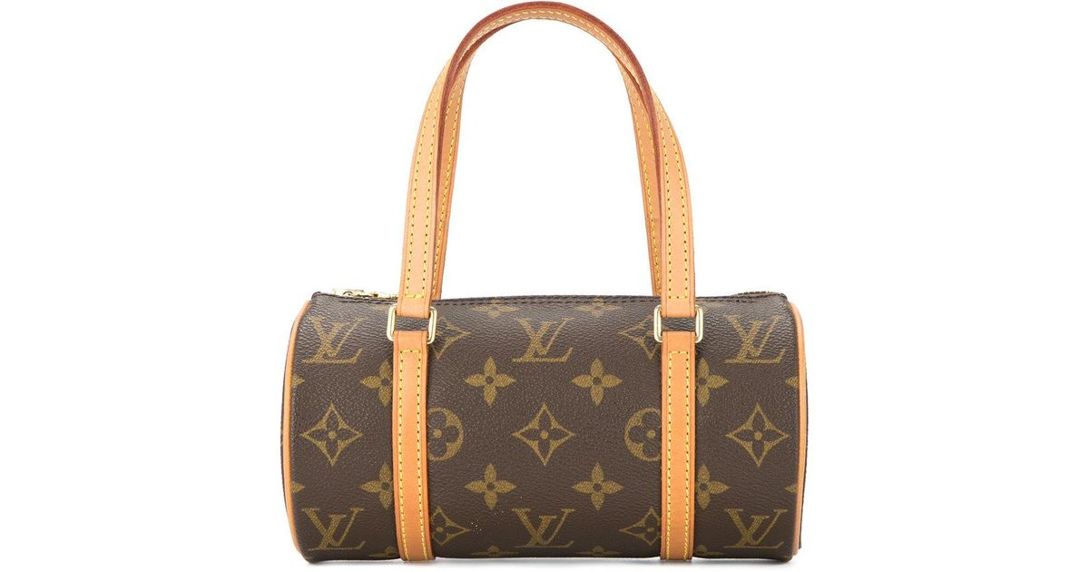 4766399c993a Lyst - Louis Vuitton Mini Papillon Hand Bag in Brown
