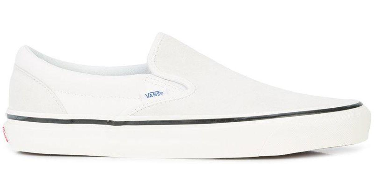 27d6c9a57c4d Lyst - Vans Flat Sole Sneakers in White for Men
