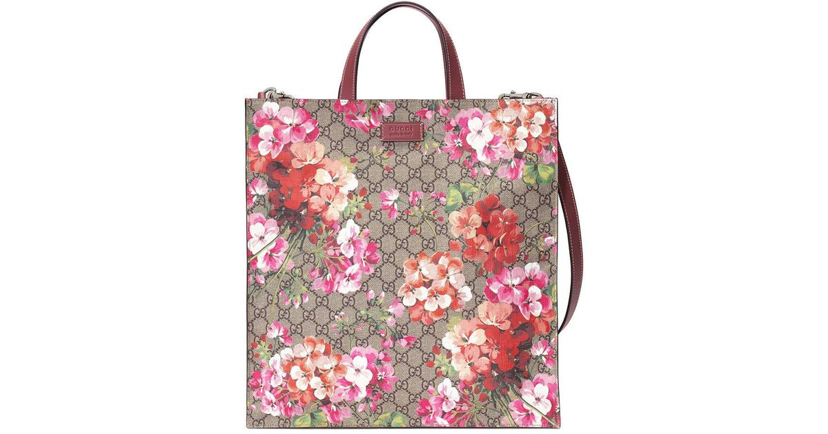 63c0800a5f81 Lyst - Gucci Soft Gg Blooms Tote in Brown