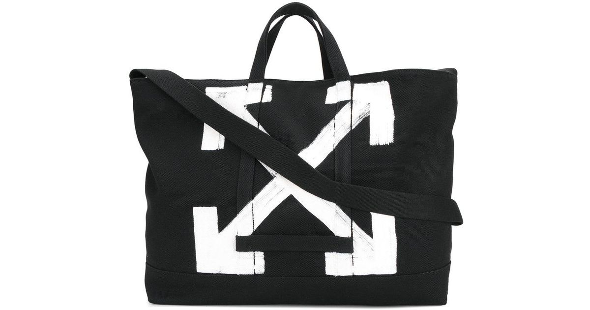 53f2d9026f08 Lyst - Off-White c o Virgil Abloh Large Logo Tote Bag in Black