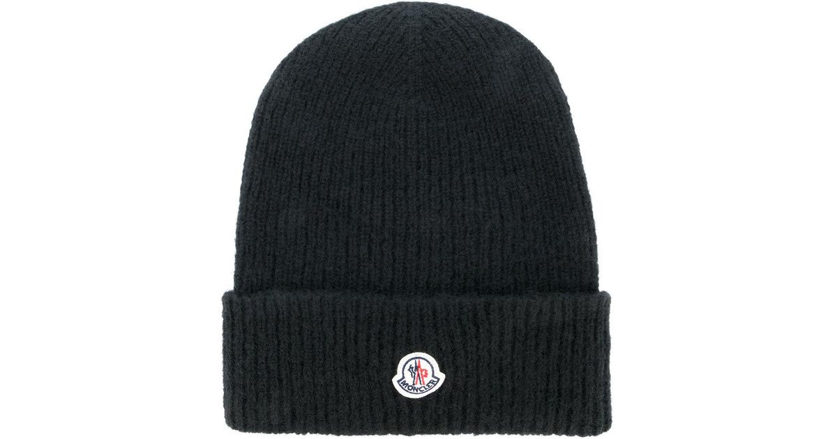 classic knitted beanie hat - White Moncler iCNsYg