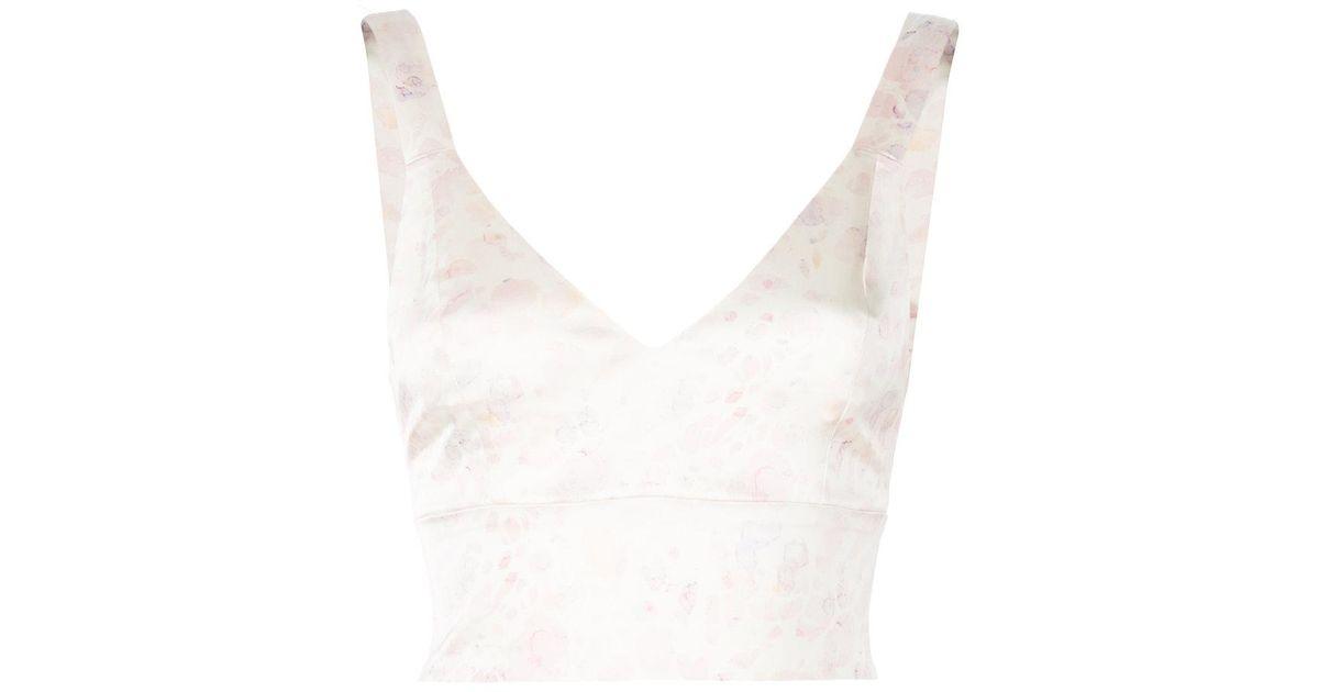 8b777172010bf3 Murmur Skinny-fit Crop Vest Top in White - Lyst