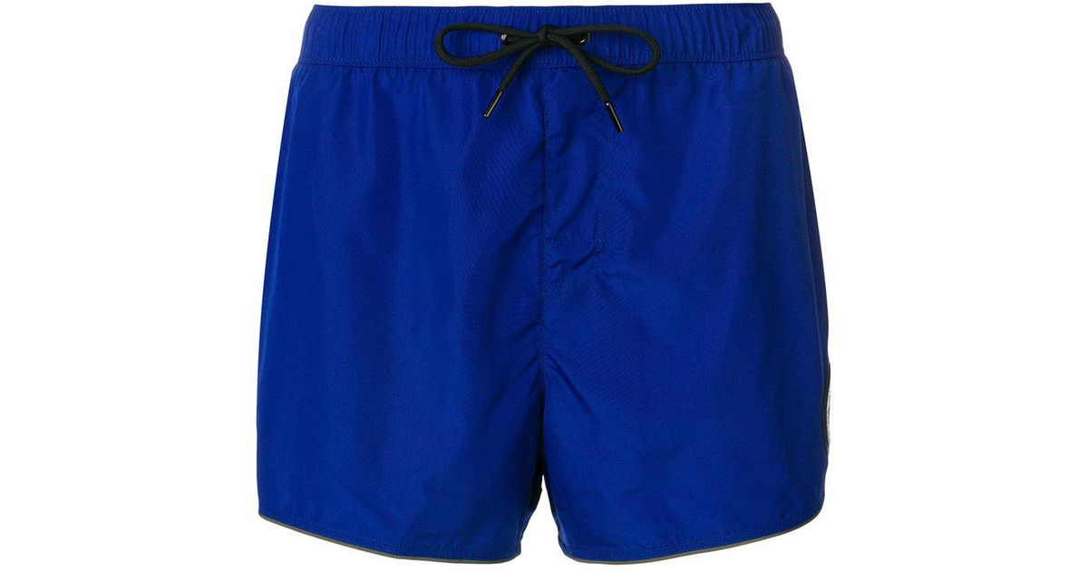 06daed6fcf Versace Medusa Patch Swim Shorts in Blue for Men - Save 7% - Lyst