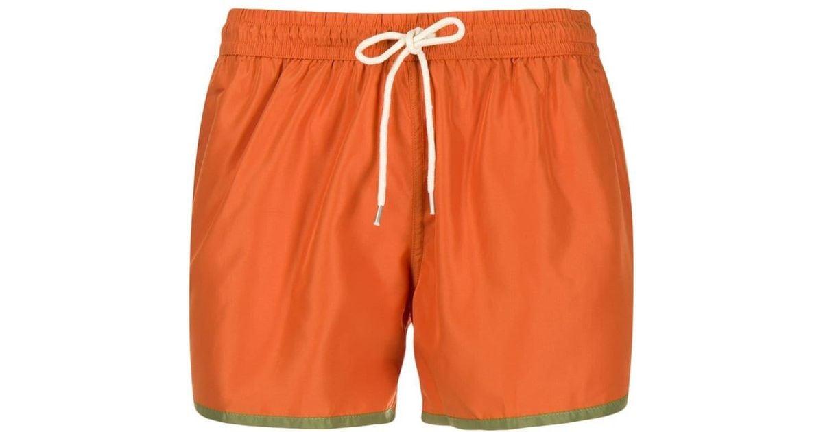 70a74ee8da NOS Beachwear Contrast Trim Swim Shorts in Orange for Men - Lyst
