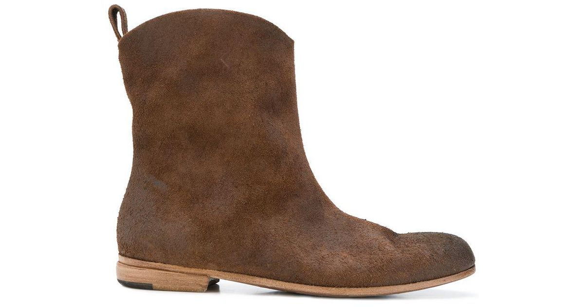 Lyst Brown Mid Boots Cowboy Marsèll In Calf iOkTwPXulZ