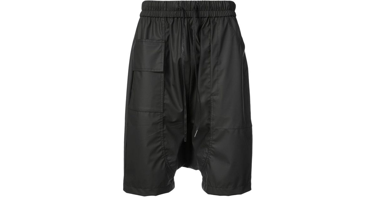 Discount Low Price Fee Shipping Factory Price drop-crotch drawstring shorts - Black Private Stock Free Shipping With Credit Card Nicekicks Sale Online Shopping Online Original hxRxUG43