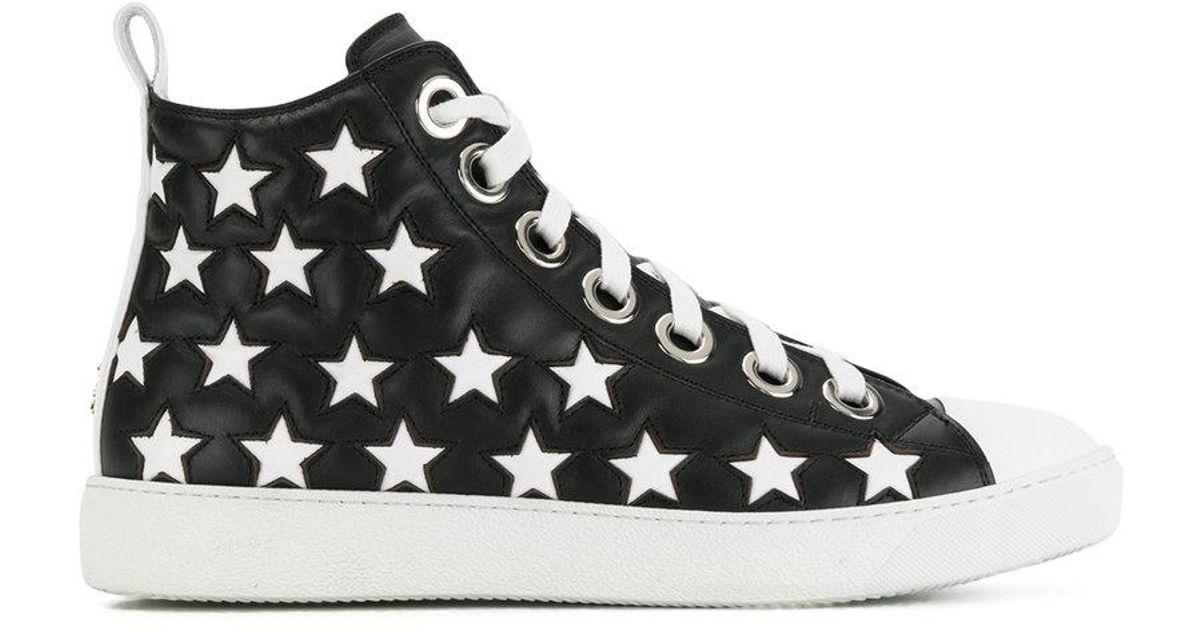 high-top star detail sneakers - Black N°21 FJtBgYQFC