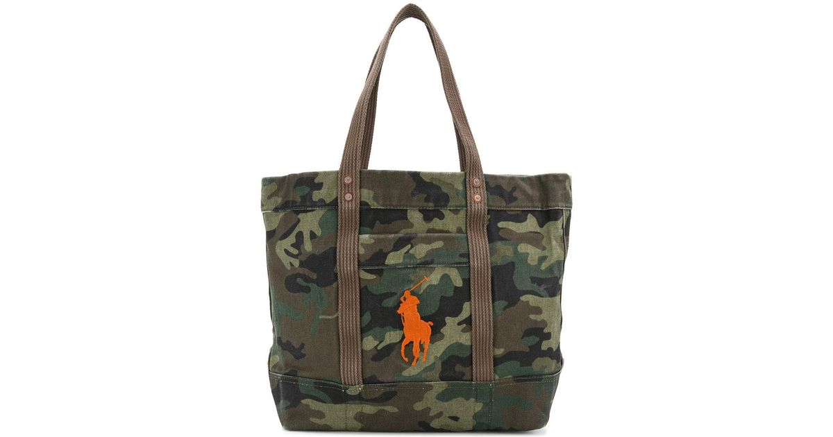 Lyst - Polo Ralph Lauren Camouflage Tote Bag in Green for Men d38b4bee280cf