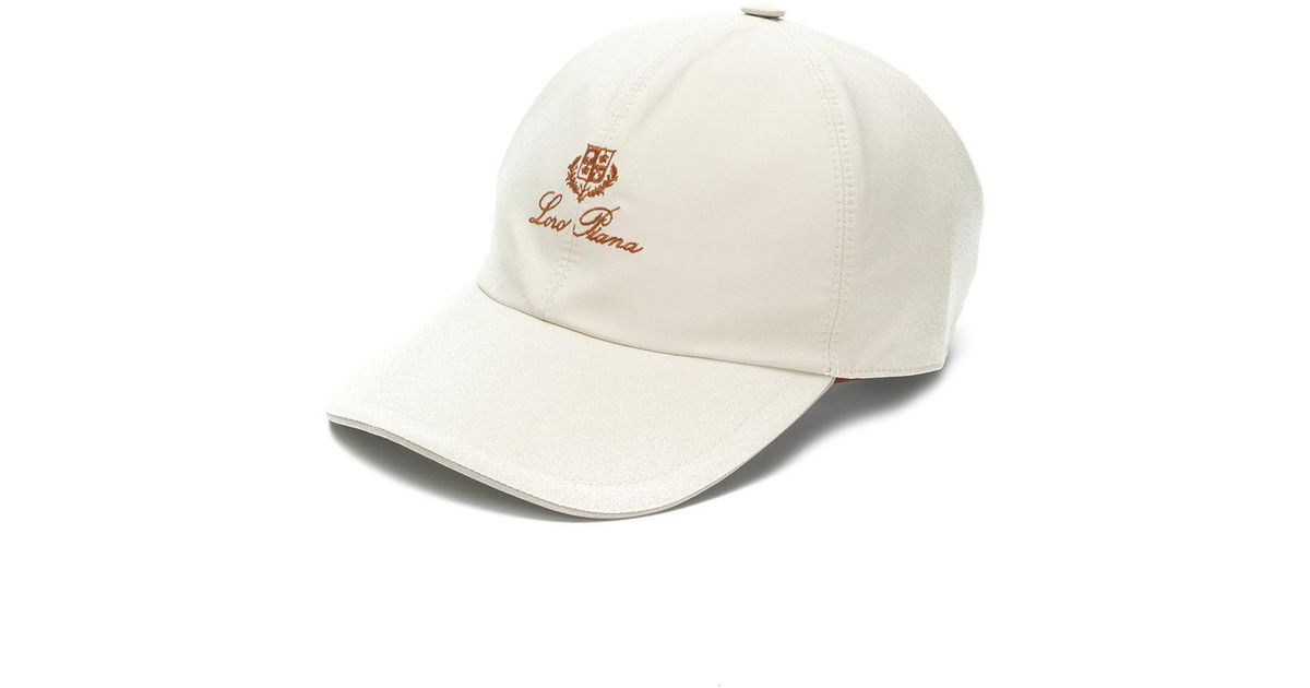 7aa7ca4b Loro Piana Logo Baseball Cap in Natural for Men - Lyst