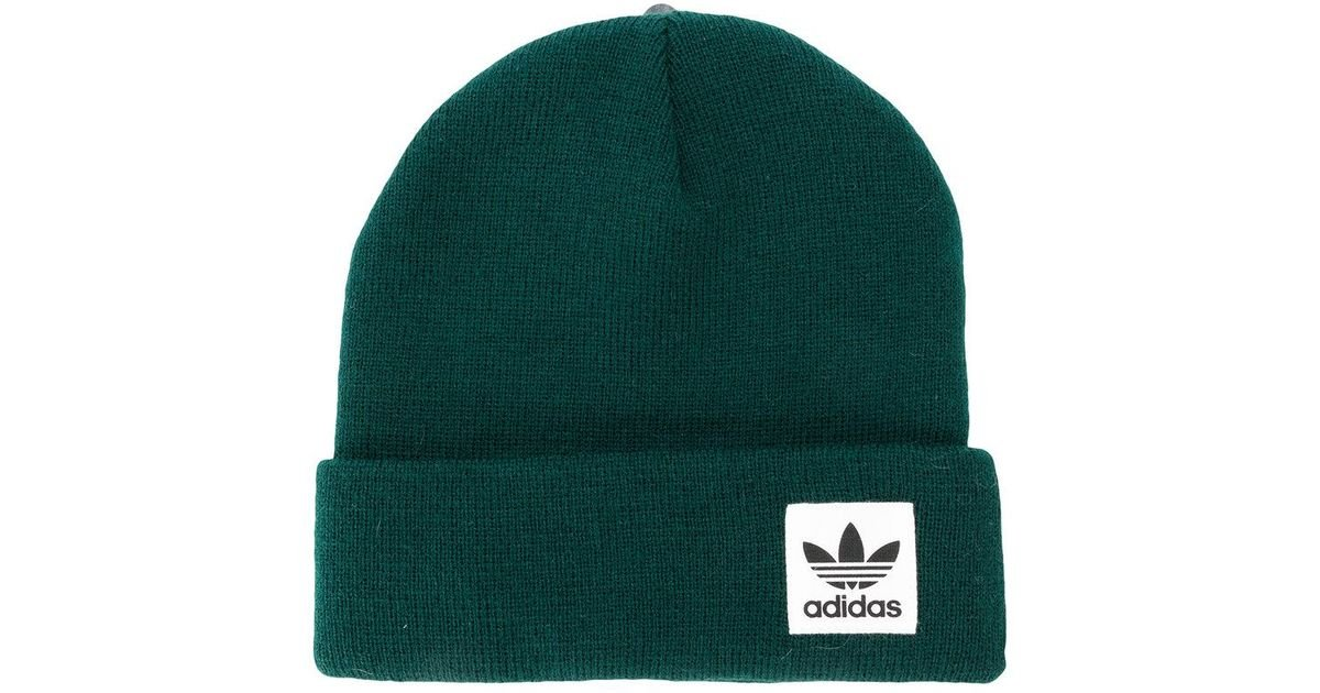 Lyst - adidas Originals Logo Beanie in Green 31e857e2968