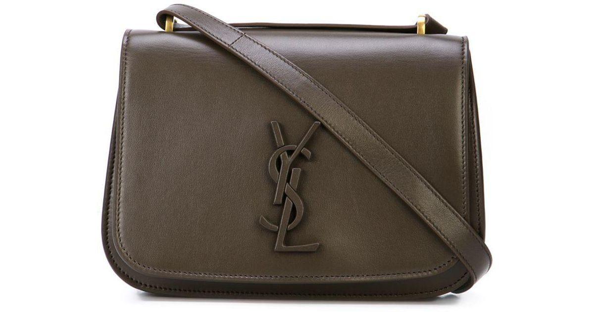 c963b1d715 Lyst - Saint Laurent Spontini Monogram Satchel Bag in Brown