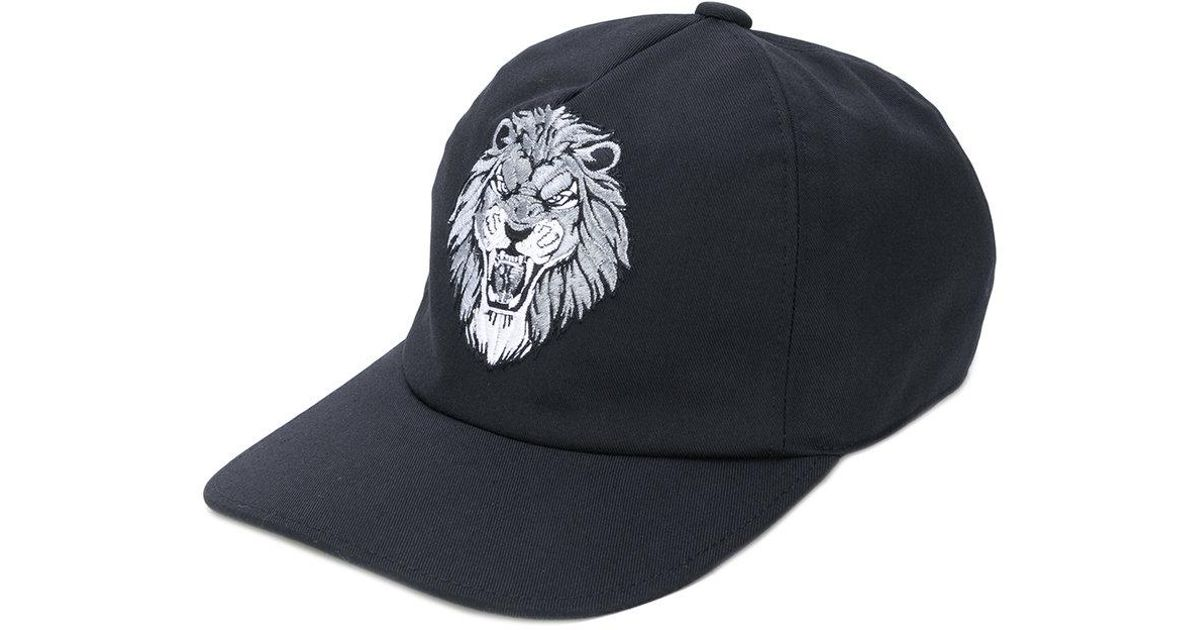 Lyst - Billionaire Embroidered Lion Baseball Cap in Black for Men 34933c5f93a