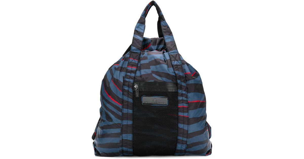 animal stripe-style tote bag - Black adidas YO5zOKh