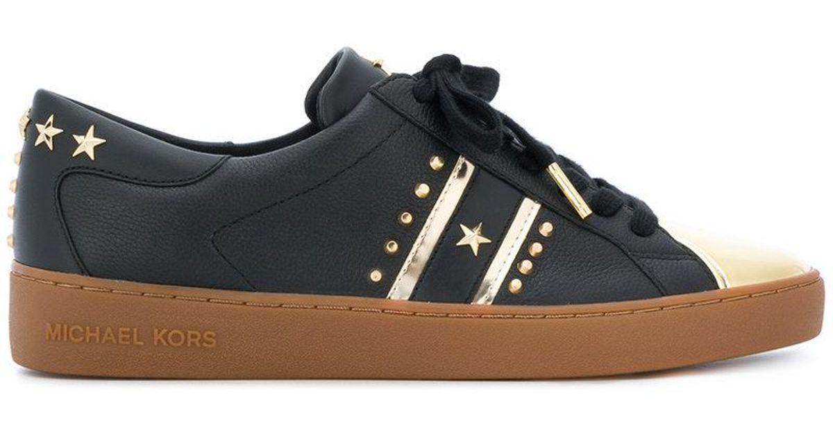 8c7ea518d0b71 Lyst - MICHAEL Michael Kors Frankie Sneakers in Black