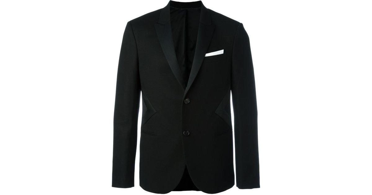 Lyst neil barrett tuxedo jacket in black for men for Neil barrett tuxedo shirt