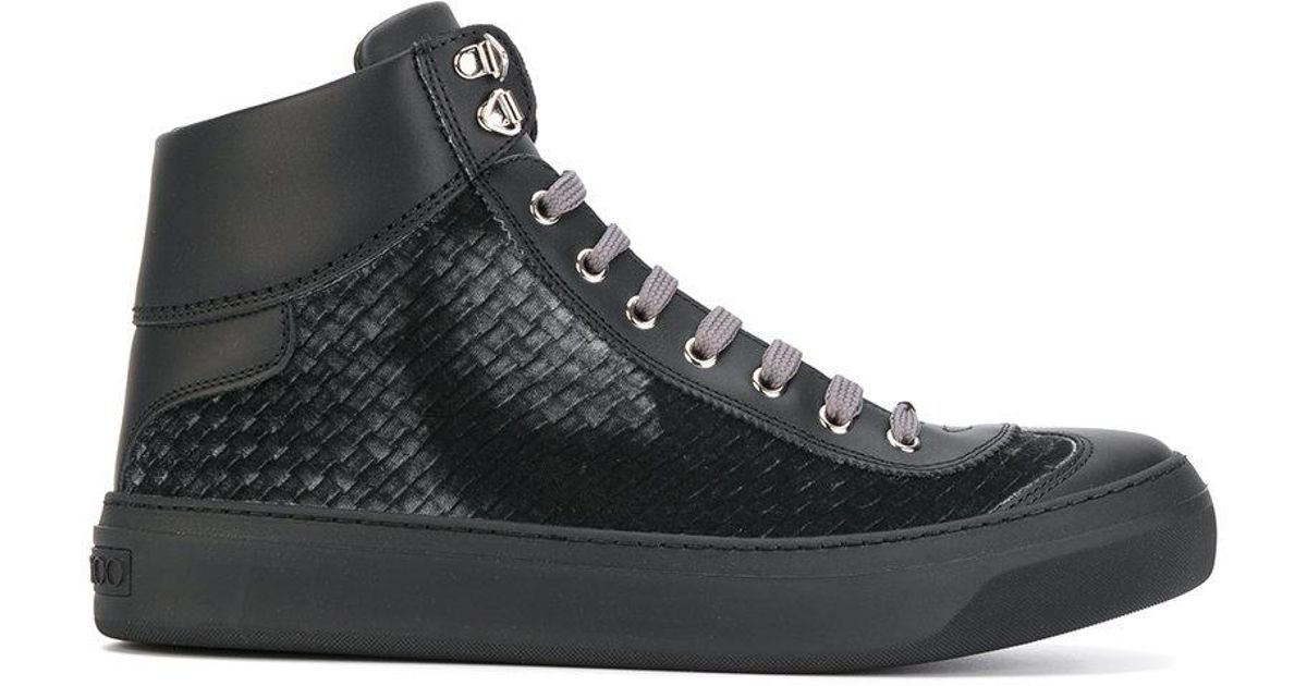 Argyle hi-top sneakers - Black Jimmy Choo London p3Q8WI