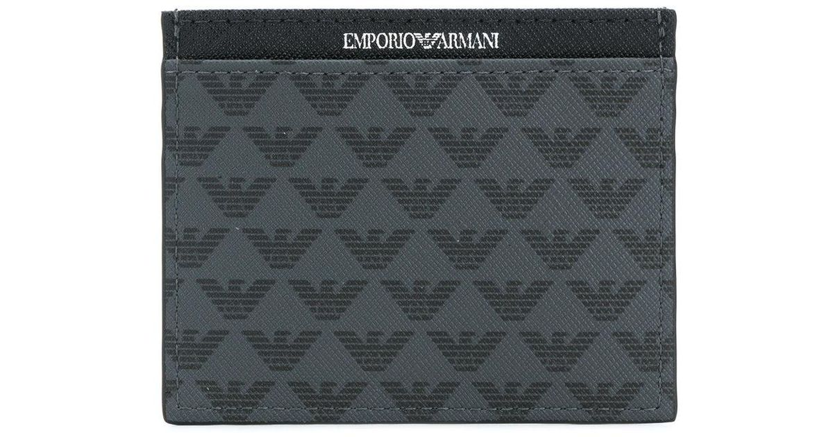 Cheap For Cheap Cheap Sale Largest Supplier Armani Logo print cardholder Discount Clearance Store Clearance Store nWSyDa