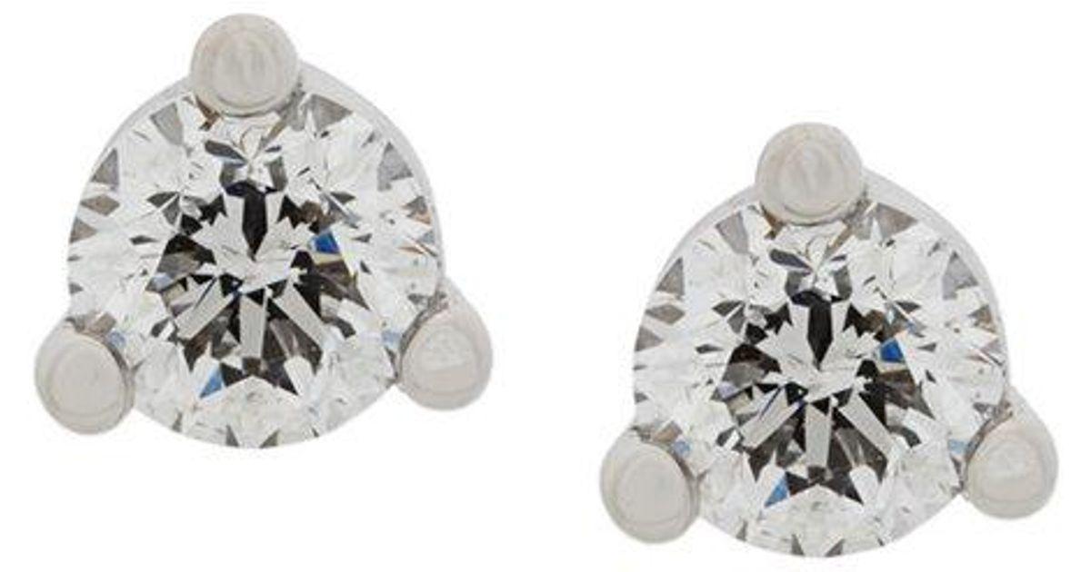 18kt gold Dots Solitaire diamond earrings - Metallic Delfina Delettrez xgyooC