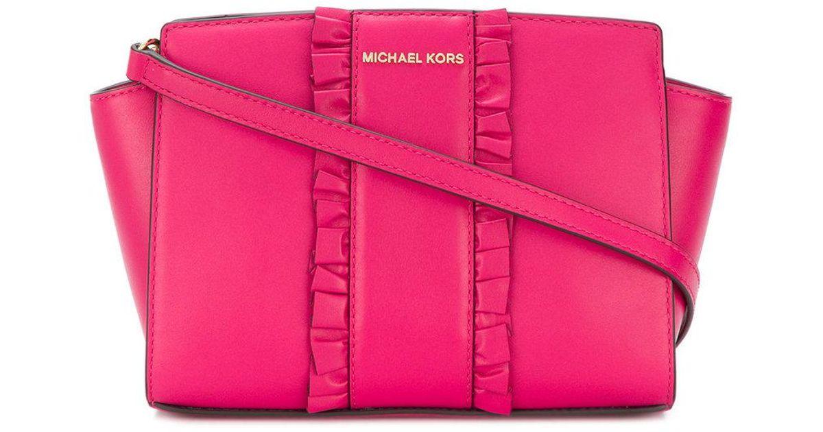 0787f7426c79 Lyst - MICHAEL Michael Kors Selma Medium Messenger Bag in Pink
