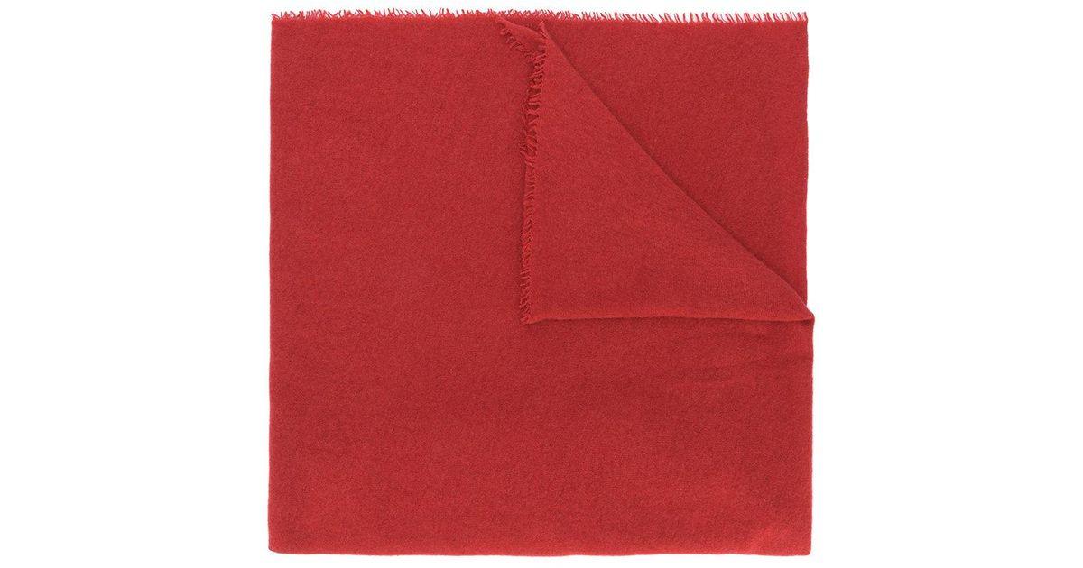 fringed oversized scarf - Red Faliero Sarti knZ8q9