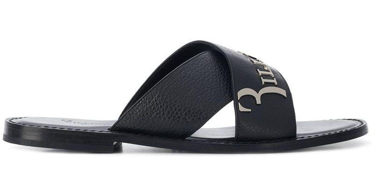 BILLIONAIREEngraved logo sandals WBX3ec