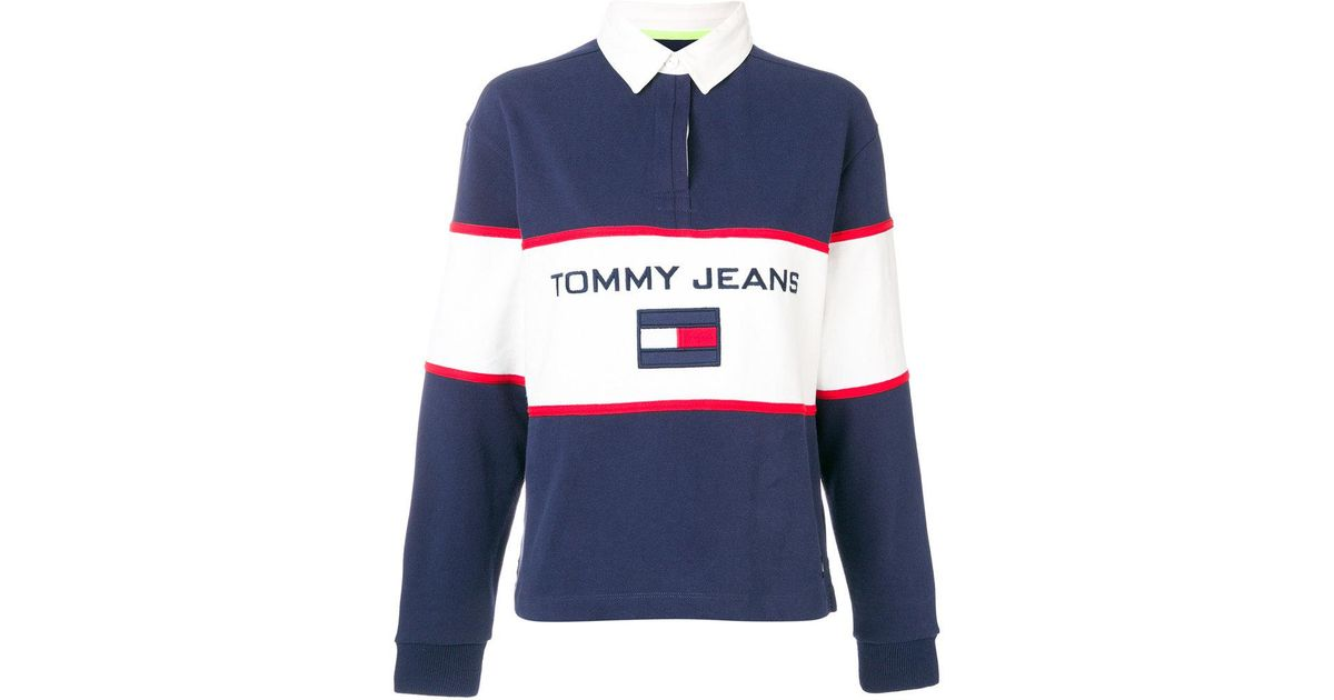 5a018b87cab Tommy Hilfiger 90s Rugby Polo Shirt in Blue - Lyst